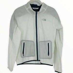 The North Face Full-Zip Packable Windbreaker Jacket Waterproof White XS Women